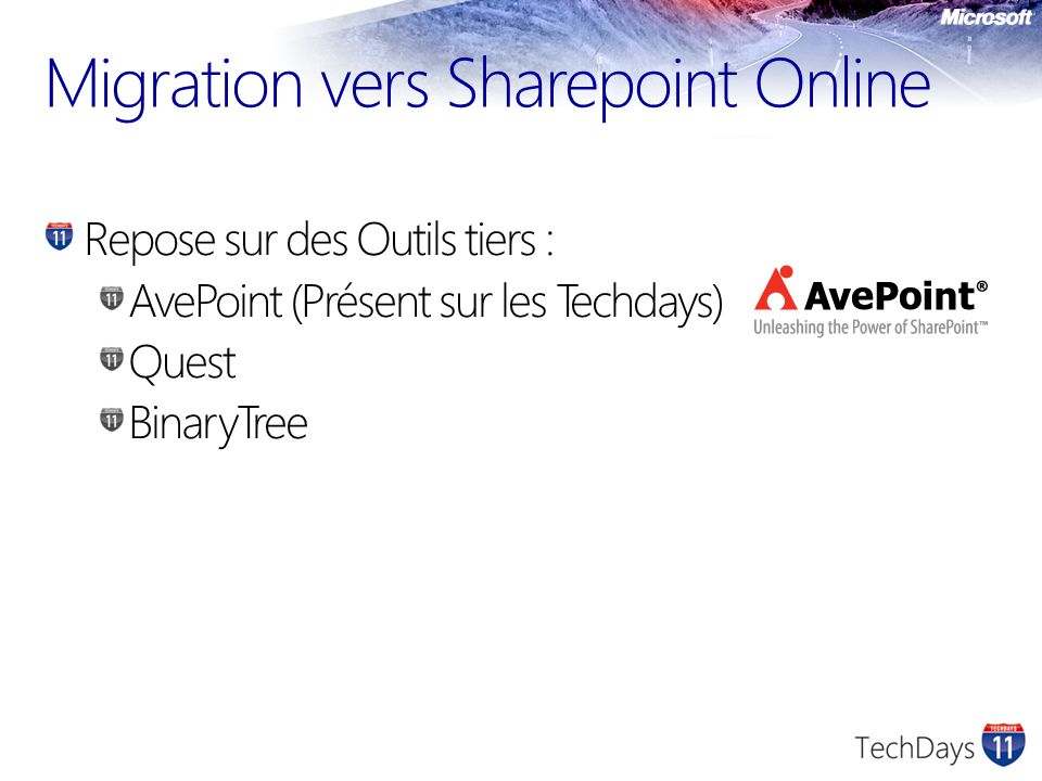 Migration vers Sharepoint Online