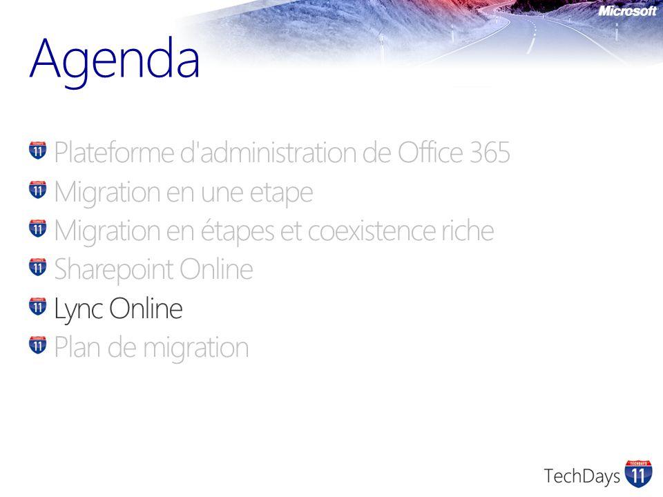 Agenda Plateforme d administration de Office 365