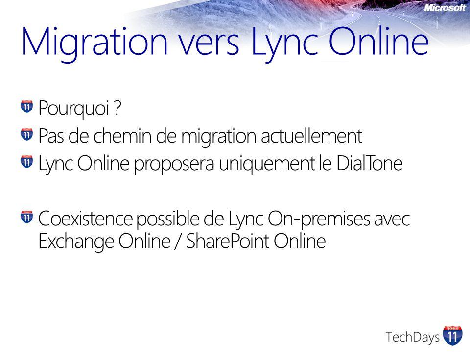 Migration vers Lync Online