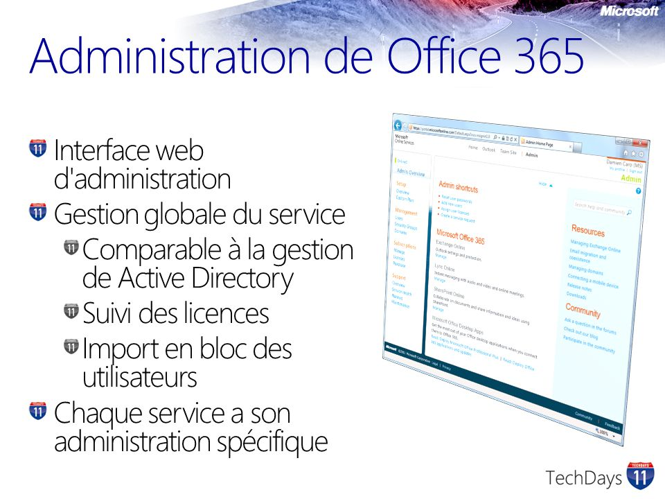 Administration de Office 365