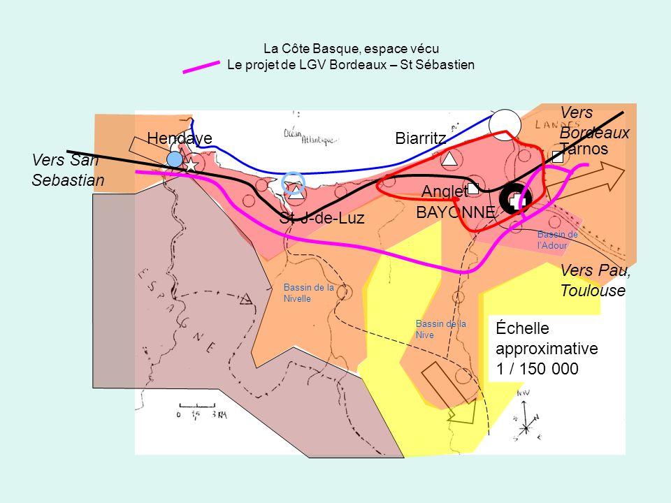 La Côte Basque, espace vécu Le projet de LGV Bordeaux – St Sébastien