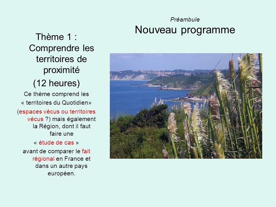 Préambule Nouveau programme