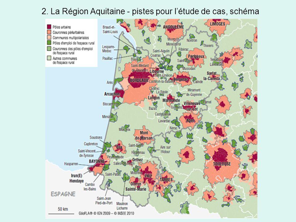 2. La Région Aquitaine - pistes pour l'étude de cas, schéma