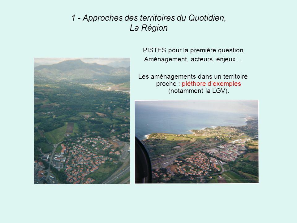 1 - Approches des territoires du Quotidien, La Région
