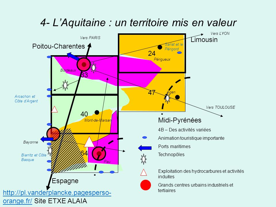 4- L'Aquitaine : un territoire mis en valeur