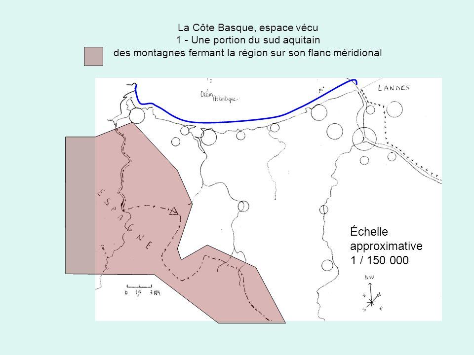 Échelle approximative 1 / 150 000