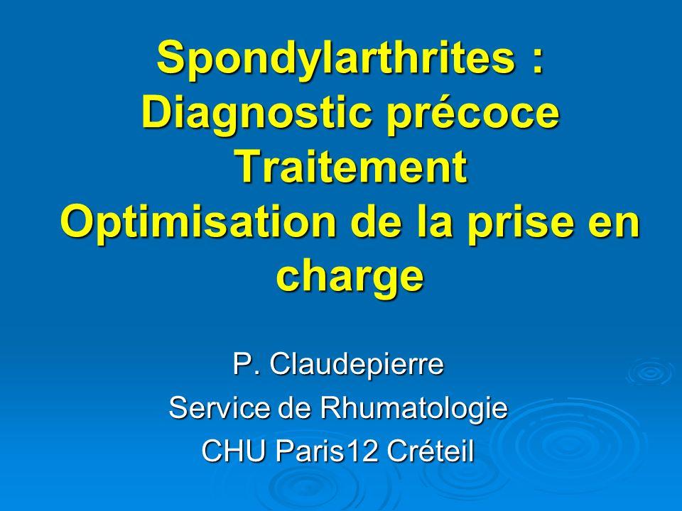 P. Claudepierre Service de Rhumatologie CHU Paris12 Créteil