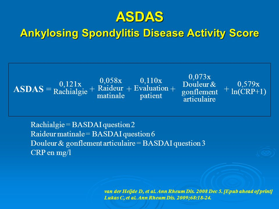 Ankylosing Spondylitis Disease Activity Score