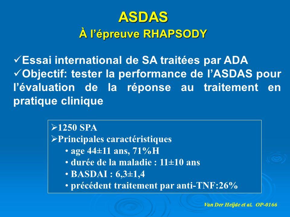 ASDAS À l'épreuve RHAPSODY Essai international de SA traitées par ADA