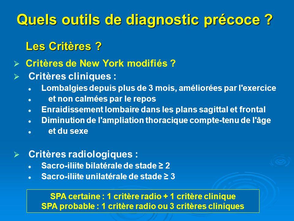 Quels outils de diagnostic précoce