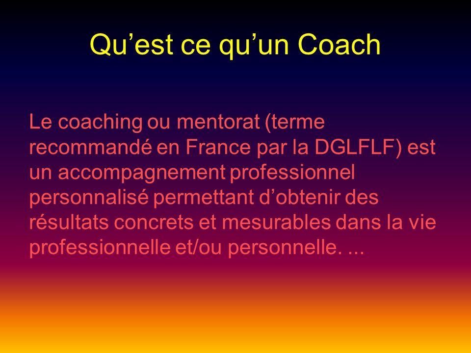 Qu'est ce qu'un Coach