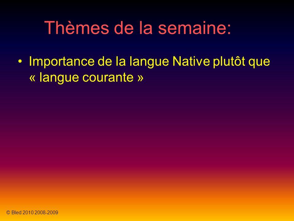 Thèmes de la semaine: Importance de la langue Native plutôt que « langue courante » Exemple d'appel client, ma machine elle est cassé !