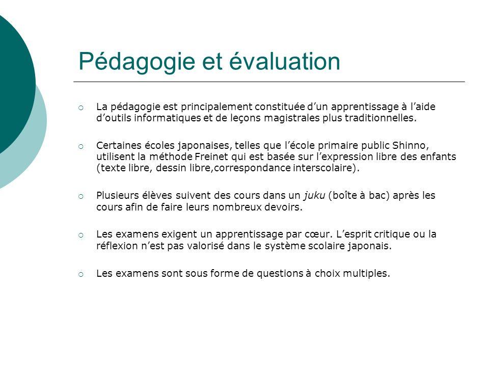 Pédagogie et évaluation