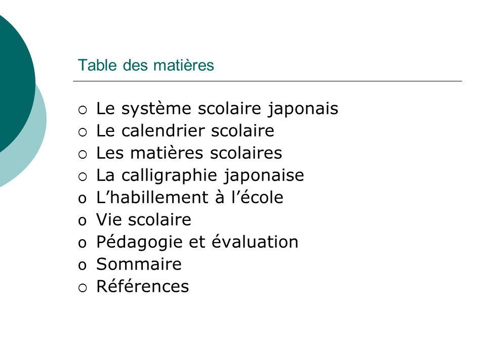 Le système scolaire japonais Le calendrier scolaire