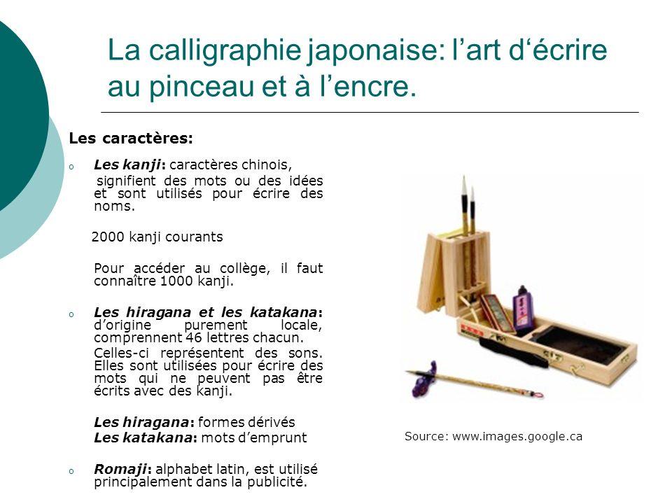 La calligraphie japonaise: l'art d'écrire au pinceau et à l'encre.