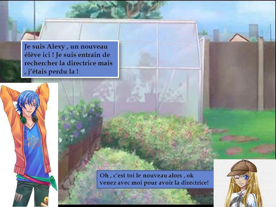 Club de Jardin Je suis Alexy , un nouveau élève ici ! Je suis entrain de rechercher la directrice mais , j'étais perdu la !