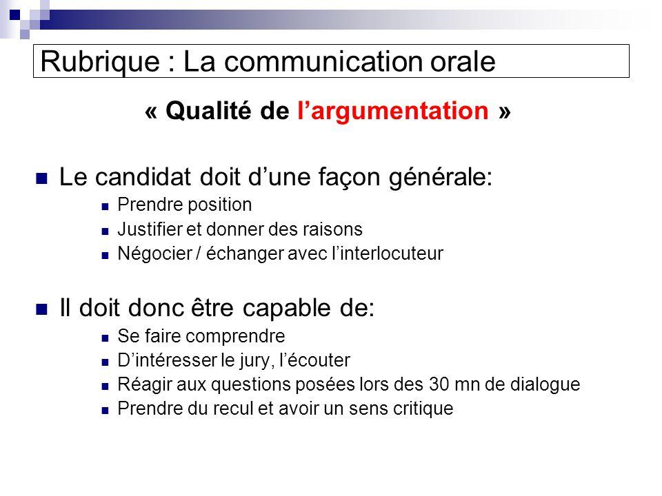 Rubrique : La communication orale