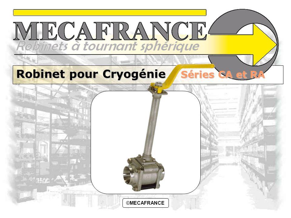 Robinet pour Cryogénie Séries CA et RA