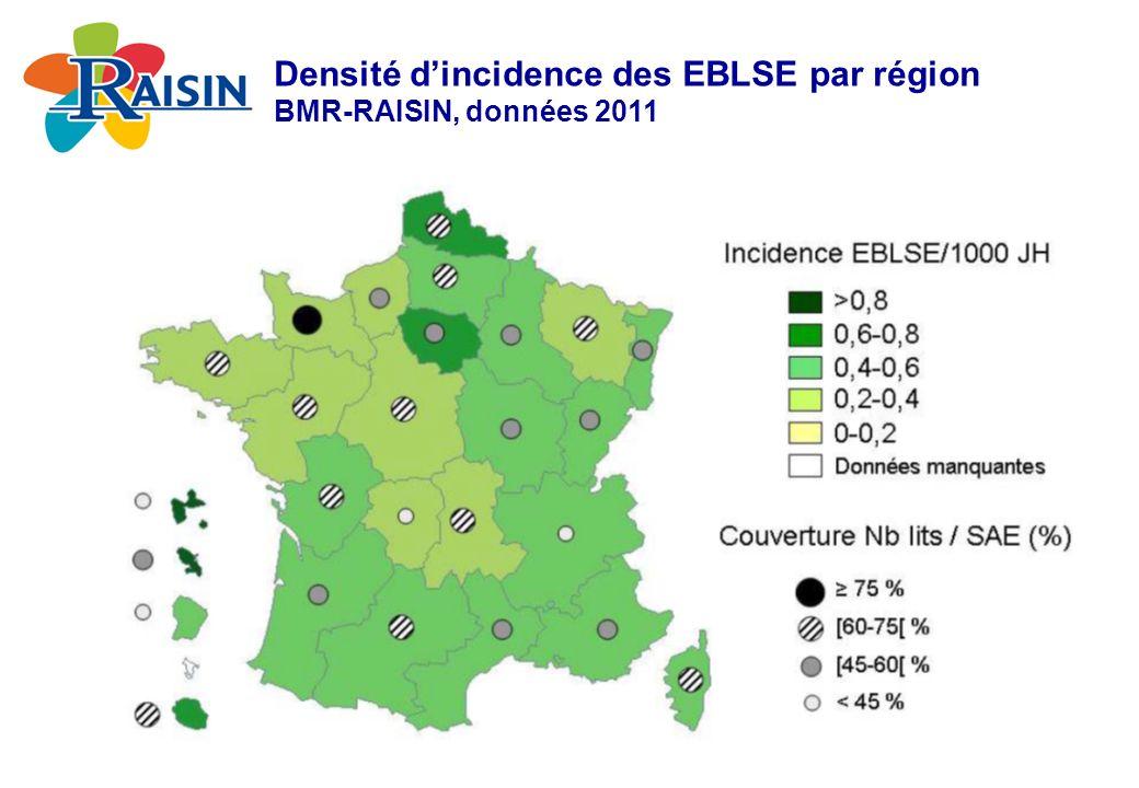 Densité d'incidence des EBLSE par région