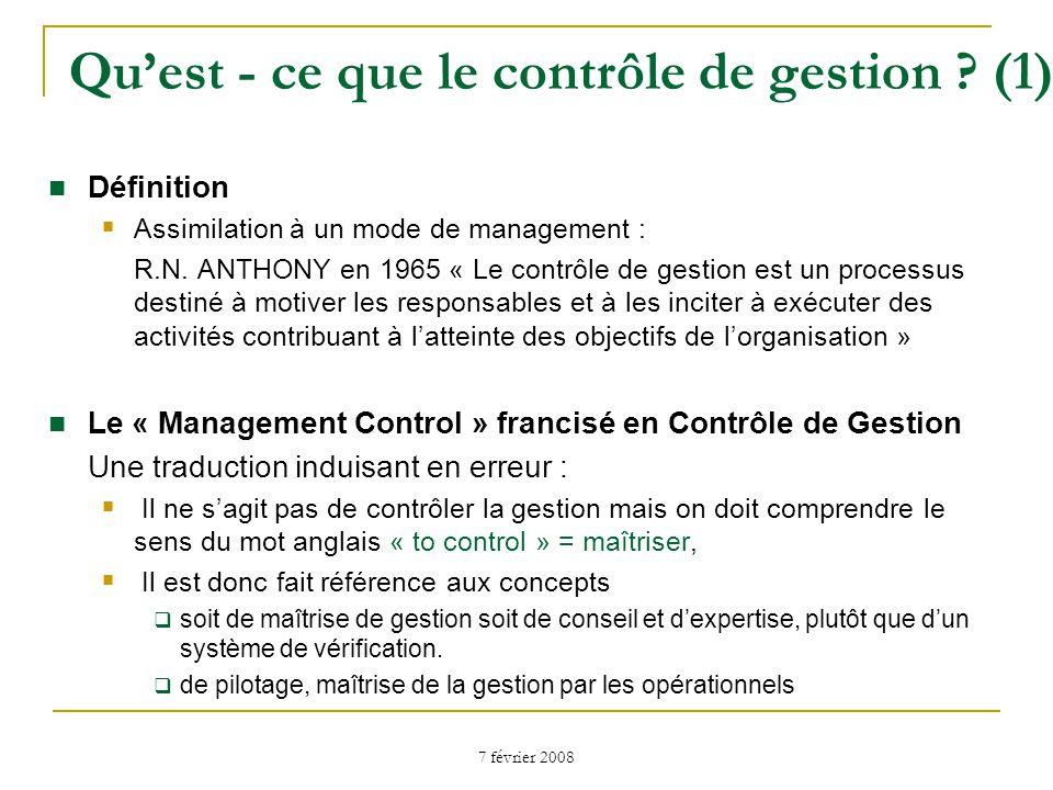 Qu'est - ce que le contrôle de gestion (1)