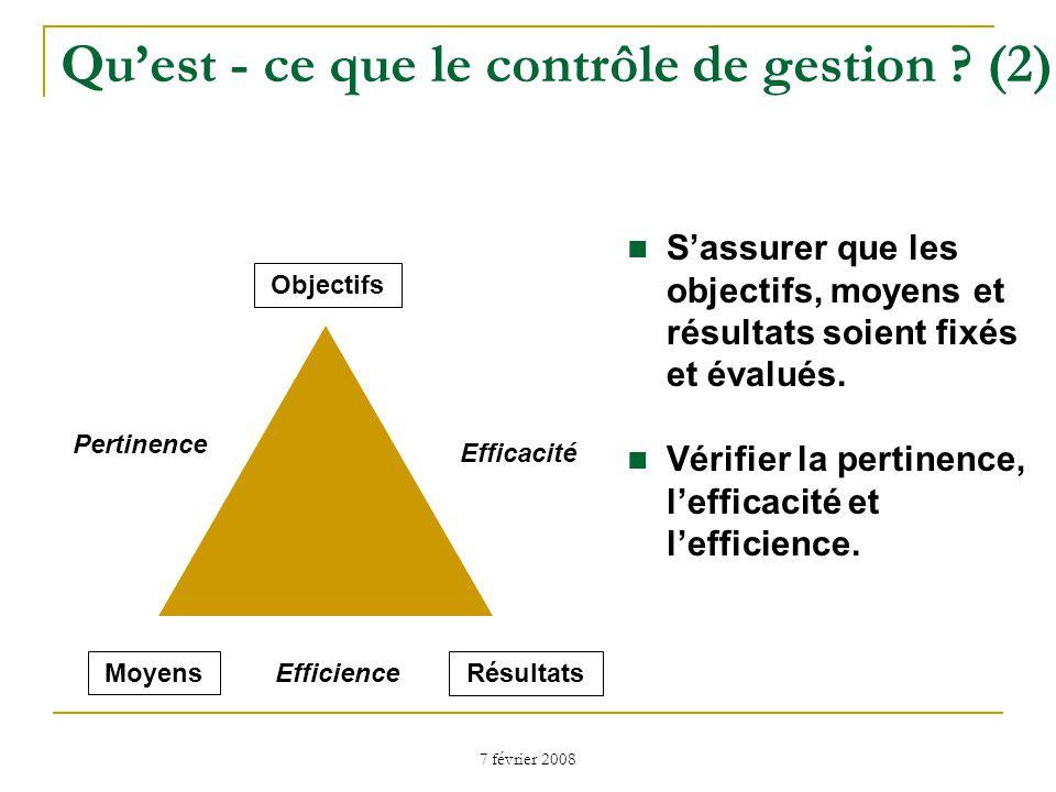 Qu'est - ce que le contrôle de gestion (2)