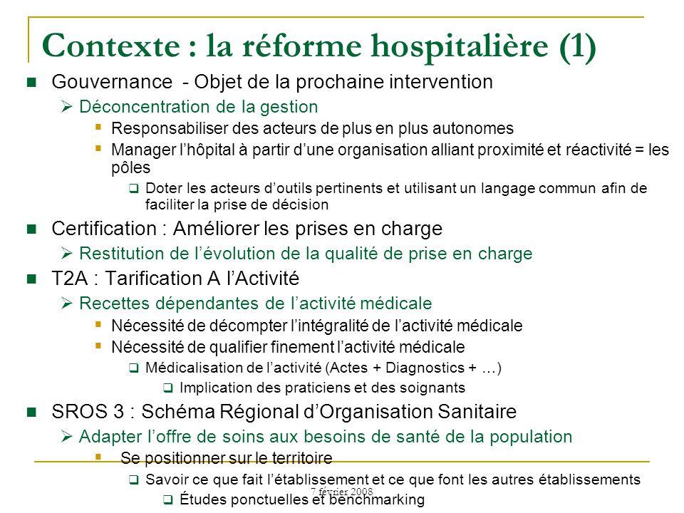 Contexte : la réforme hospitalière (1)