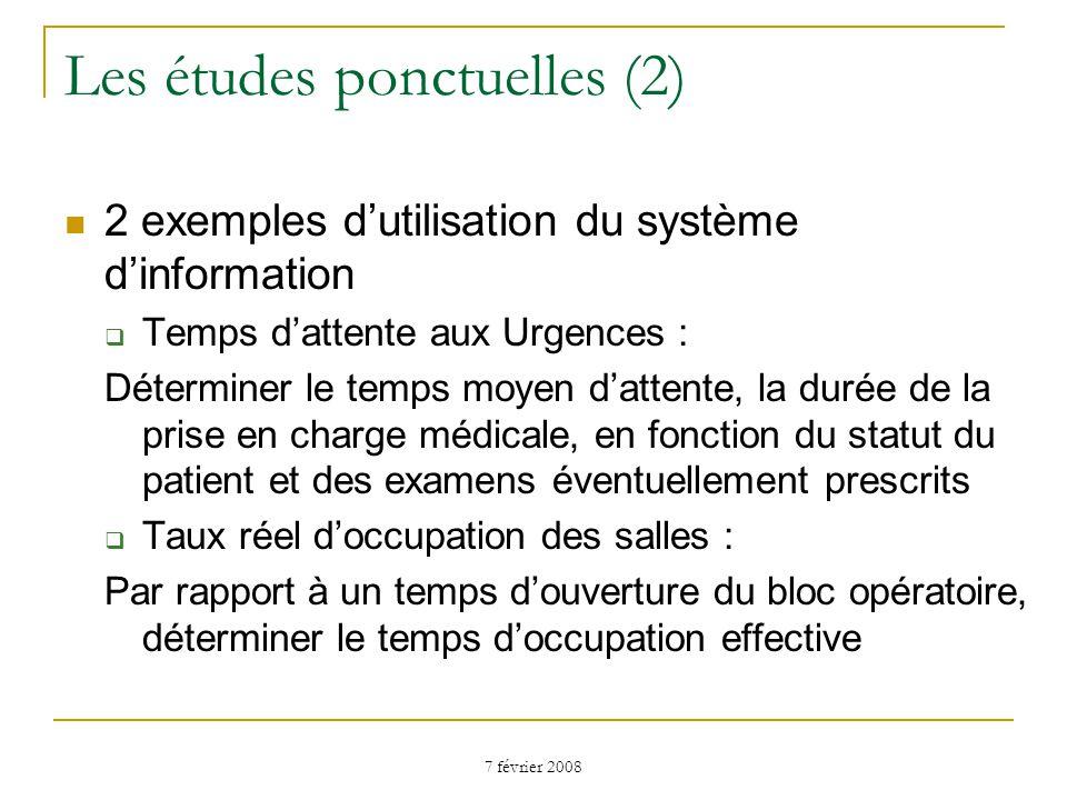 Les études ponctuelles (2)