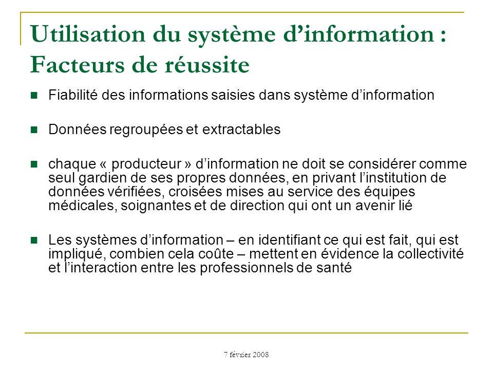 Utilisation du système d'information : Facteurs de réussite