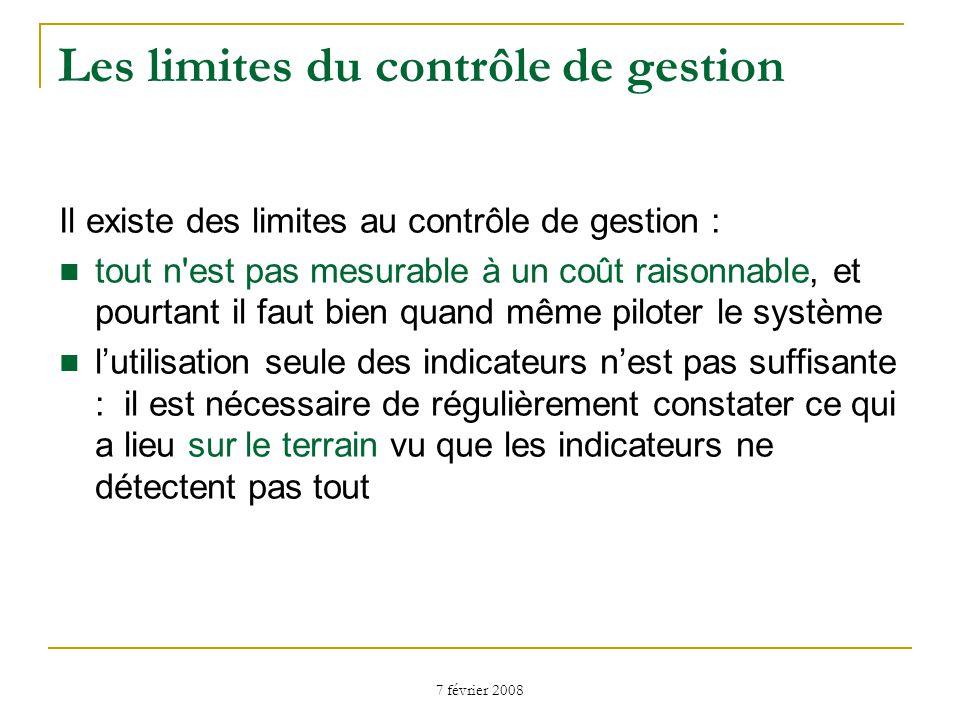 Les limites du contrôle de gestion