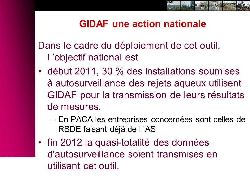 GIDAF une action nationale