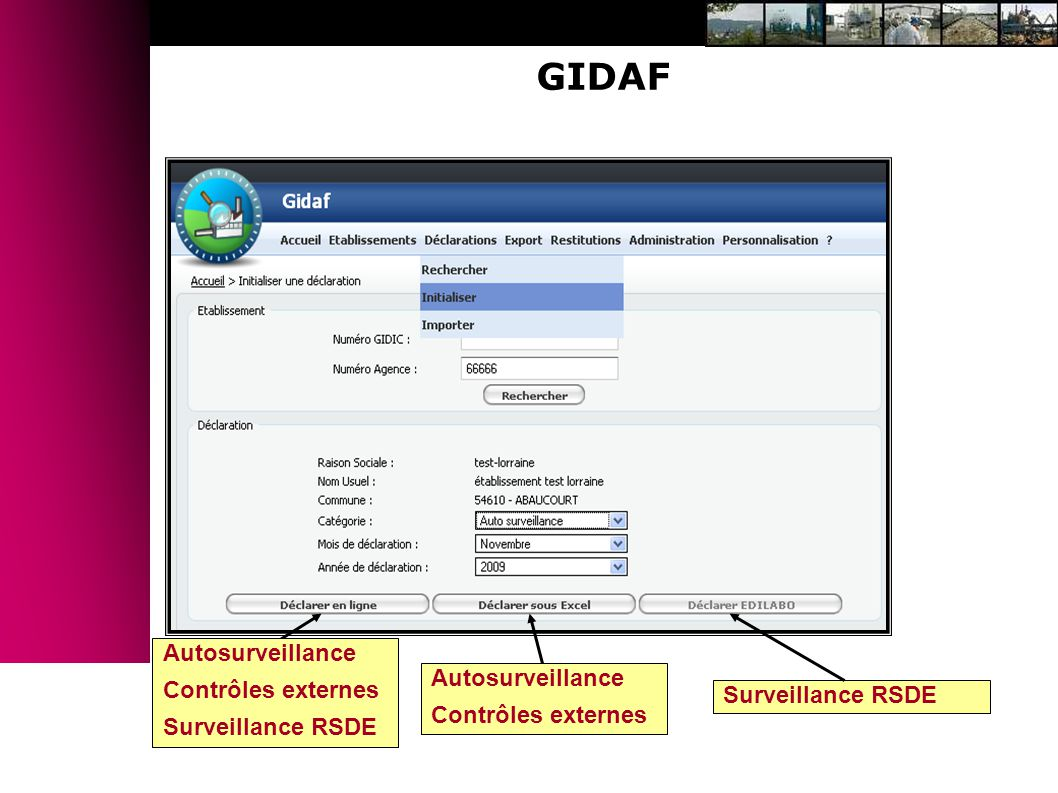 GIDAF Autosurveillance Contrôles externes Autosurveillance