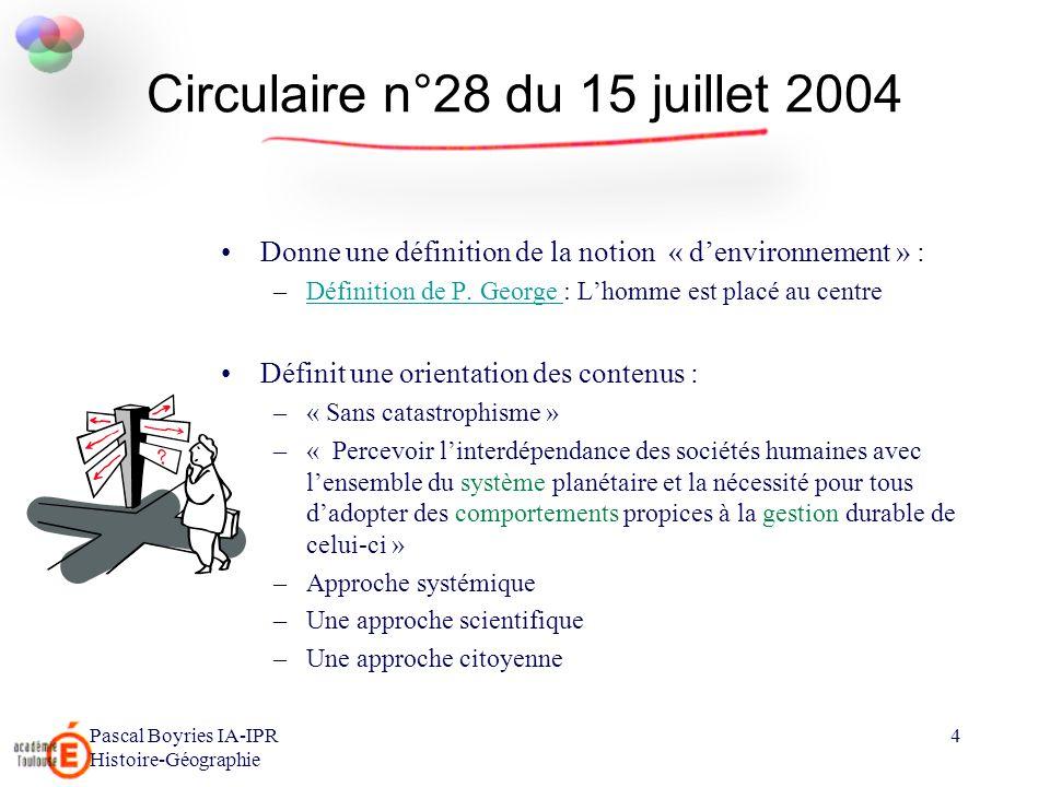 Circulaire n°28 du 15 juillet 2004