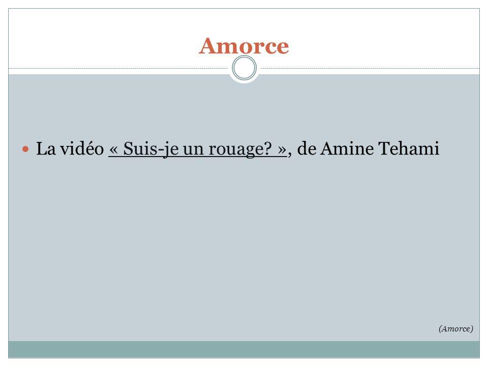 Amorce La vidéo « Suis-je un rouage », de Amine Tehami (Amorce)