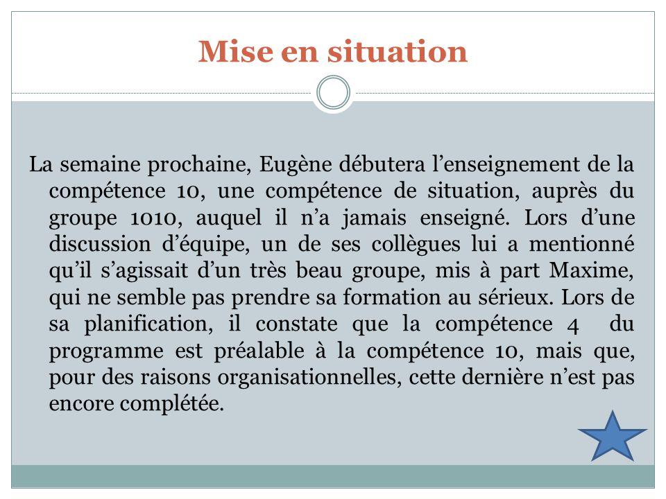 Service de la FP Mise en situation.