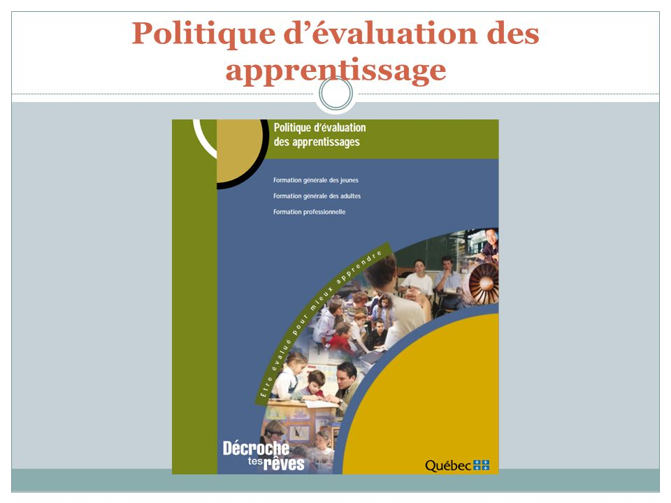 Politique d'évaluation des apprentissage