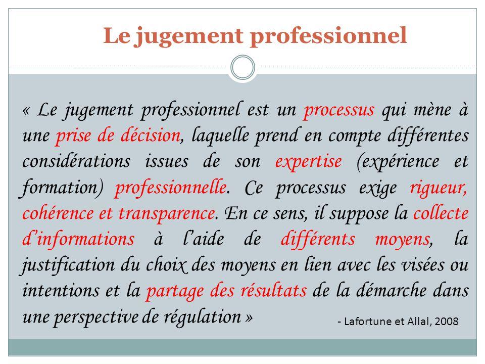 Le jugement professionnel