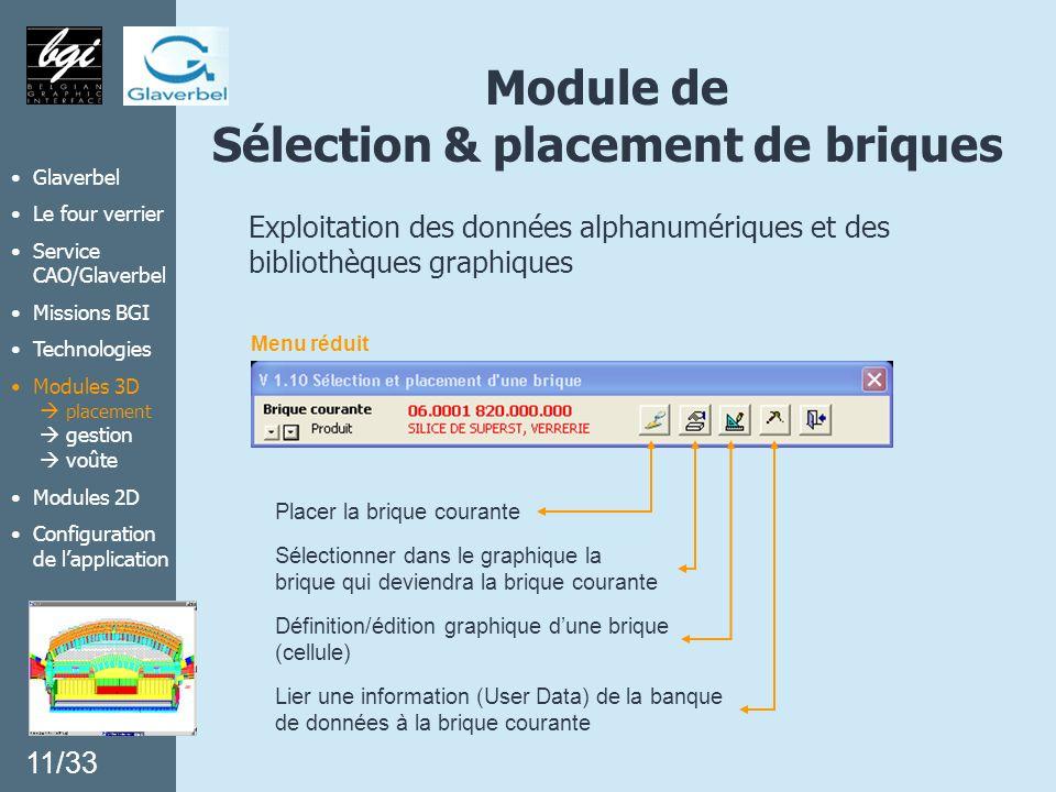 Module de Sélection & placement de briques