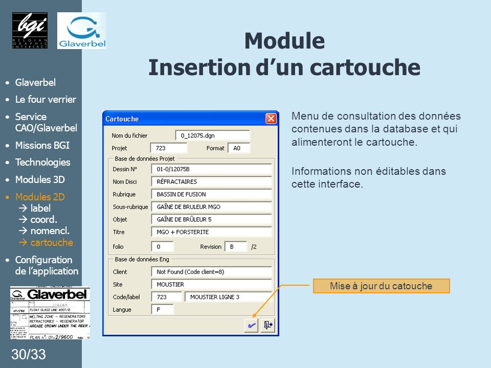 Module Insertion d'un cartouche