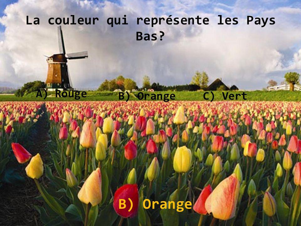 La couleur qui représente les Pays Bas