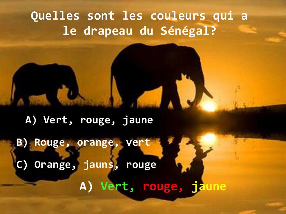 Quelles sont les couleurs qui a le drapeau du Sénégal
