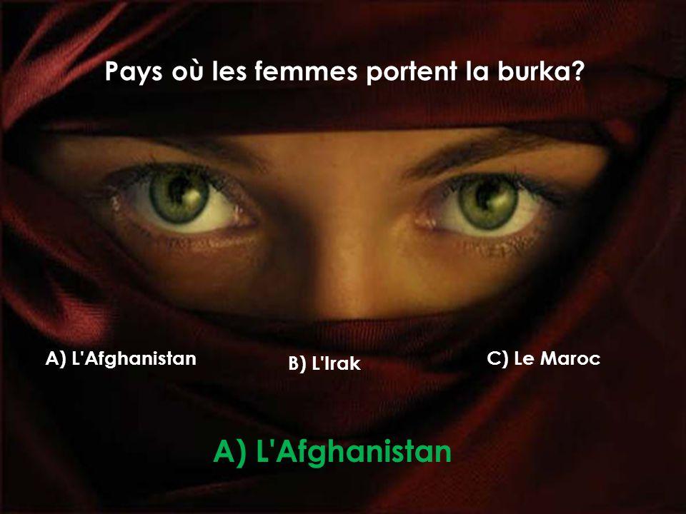 Pays où les femmes portent la burka