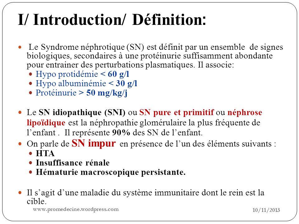 I/ Introduction/ Définition: