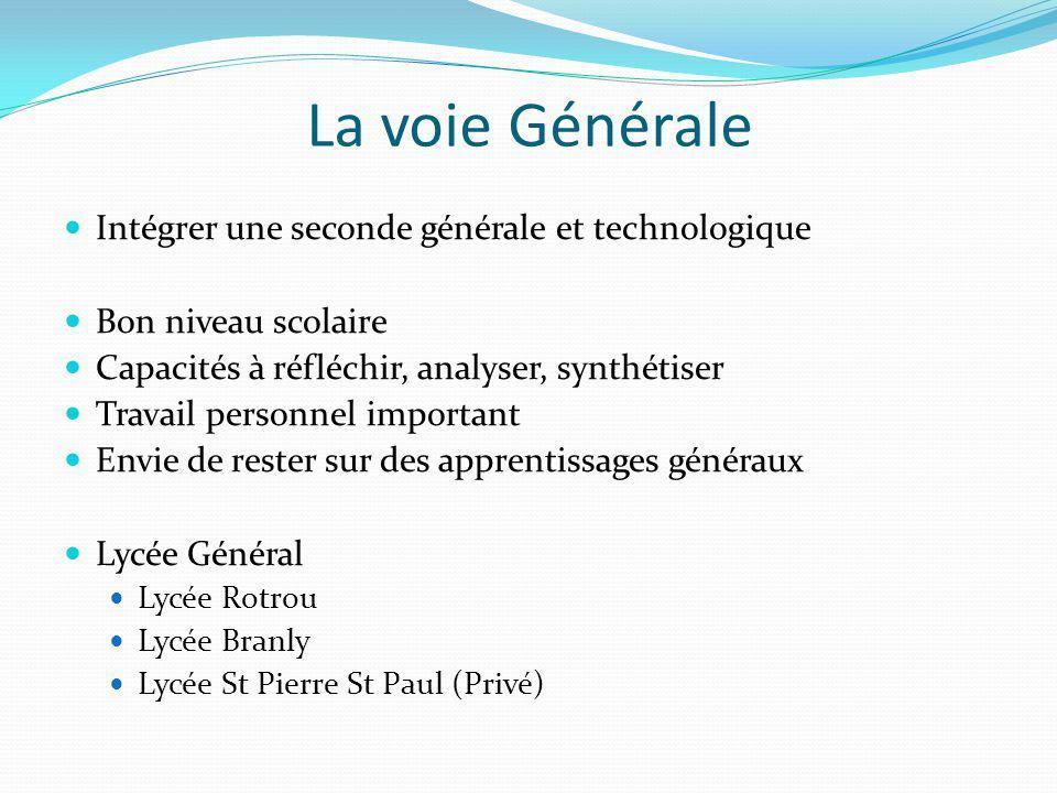 La voie Générale Intégrer une seconde générale et technologique