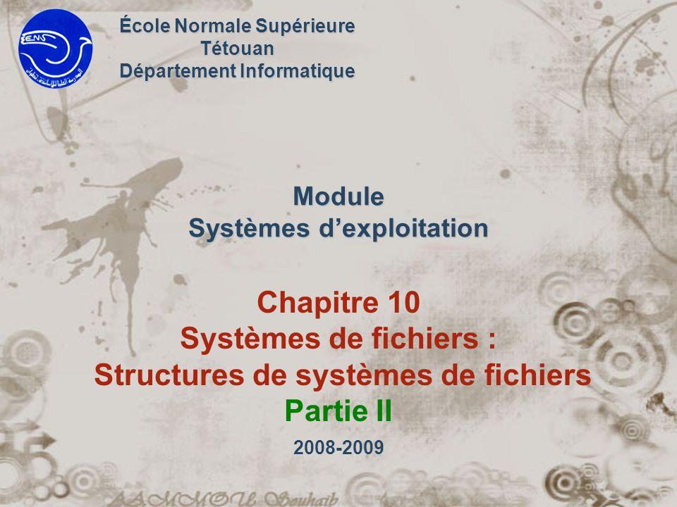 Module Systèmes d'exploitation