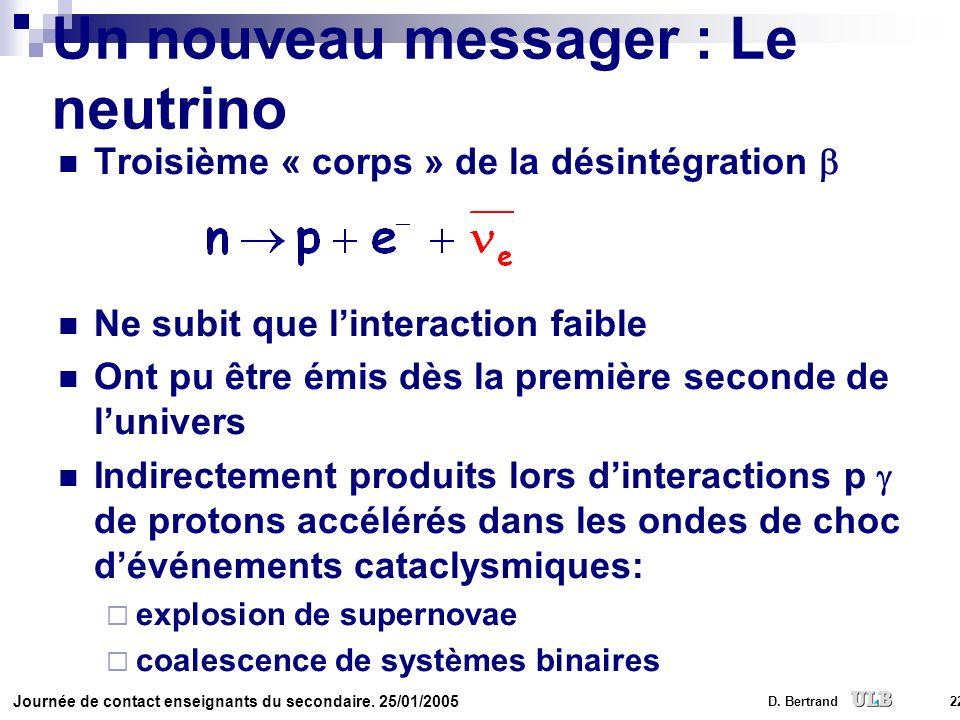 Un nouveau messager : Le neutrino