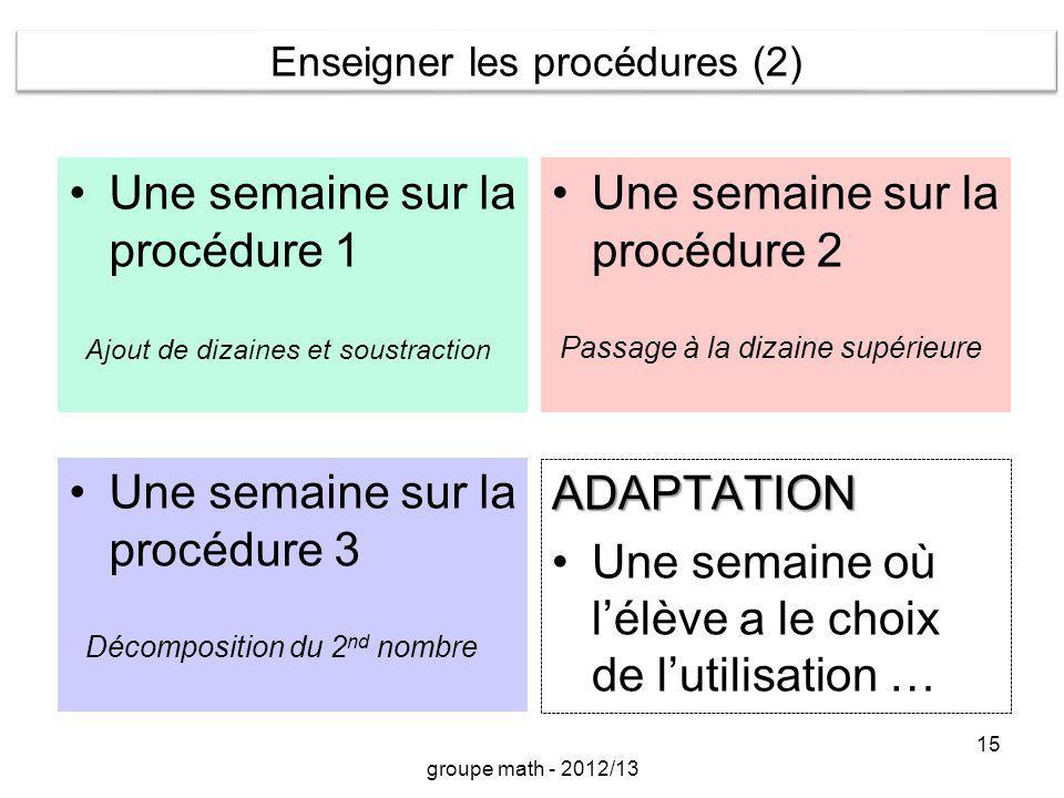 Enseigner les procédures (2)