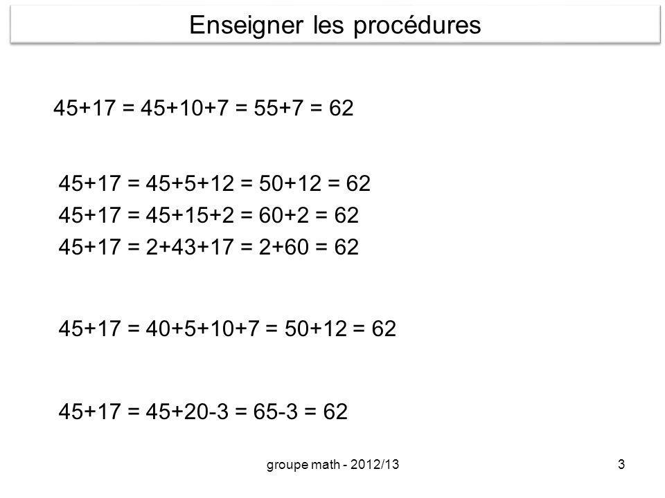 Enseigner les procédures