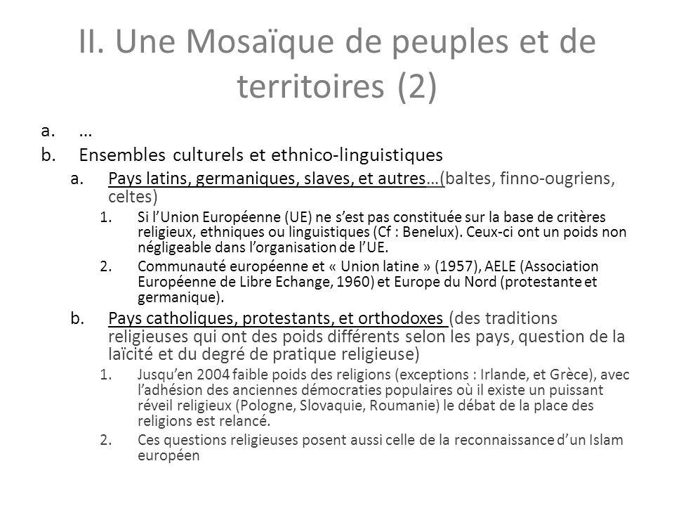 II. Une Mosaïque de peuples et de territoires (2)
