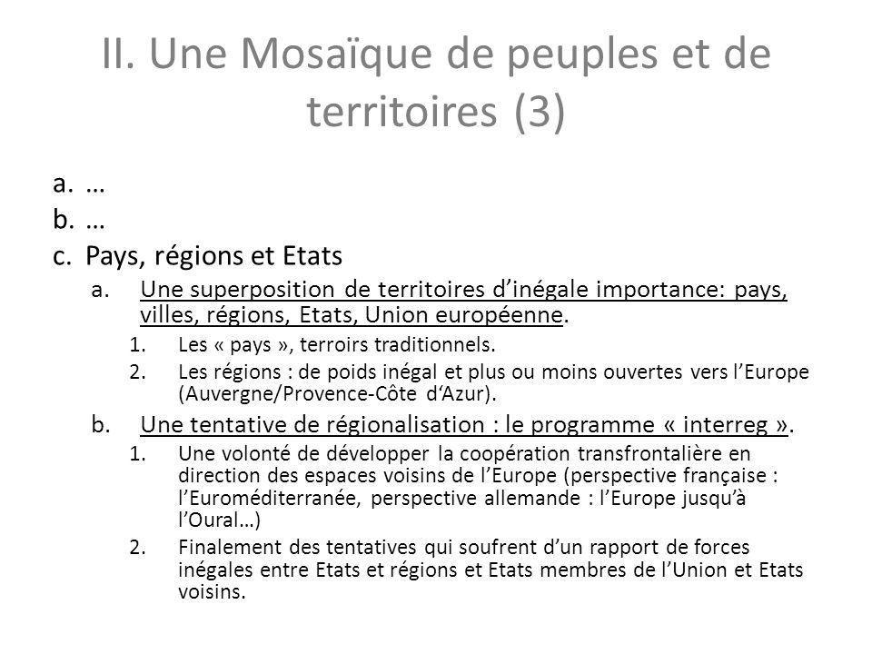 II. Une Mosaïque de peuples et de territoires (3)