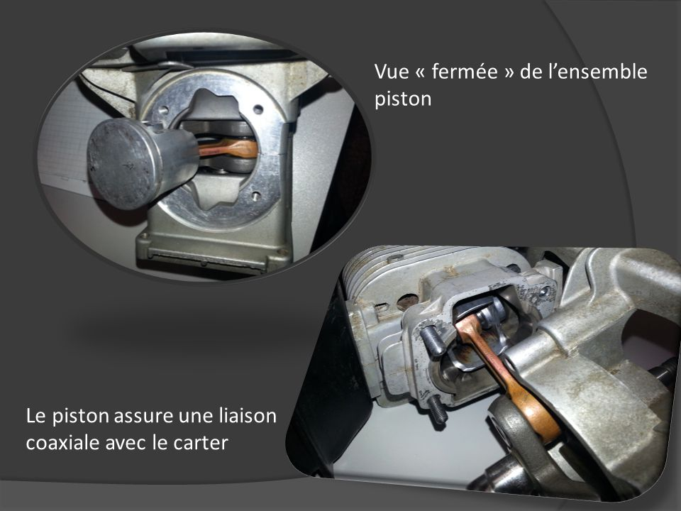 Vue « fermée » de l'ensemble piston